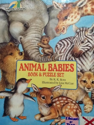 Animal Babies book, no puzzle included