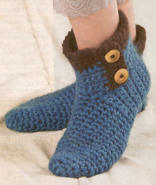 Free Crochet Patternbutton Slipper Boots3 Sizess Read
