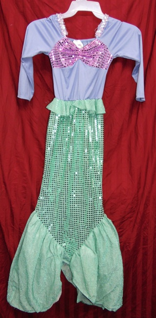 MERMAID GIRLS COSTUME DRESS MEDIUM ($32.00) Princess of the Sea!