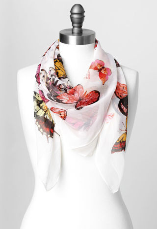 Christopher&Banks BUTTERFLY SQUARE SCARF