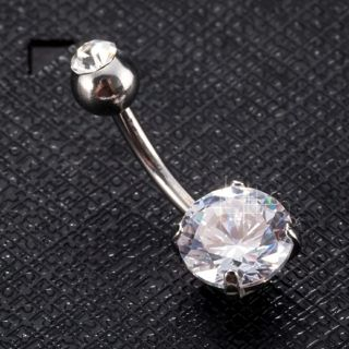 Cubic Zircon Body Jewelry Circle Belly Button Ring Body Piercing