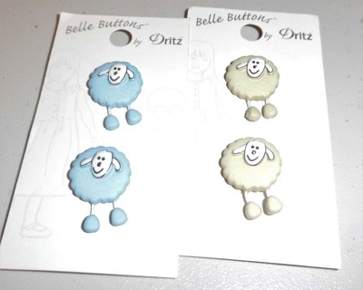 Lamb Buttons - New  and extra buttons