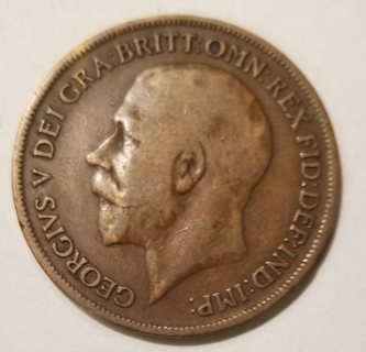 1919 English Penny - Over 100 Years Old