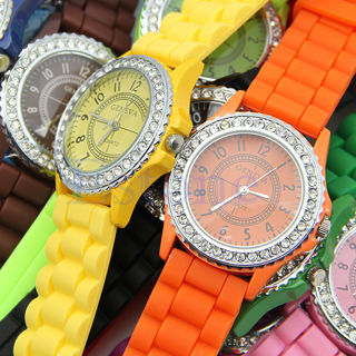 *full color* Silicone Women Watch