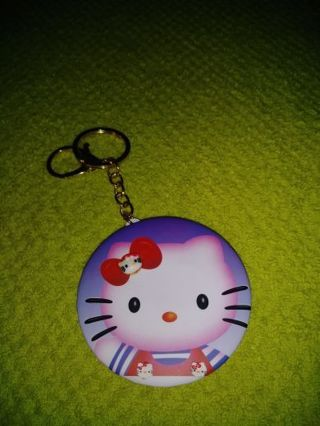 ❤✨❤✨❤BRAND NEW HELLO KITTY COMPACT MIRROR KEYCHAIN❤✨❤✨❤
