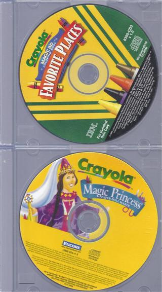 Free: 2 Kids CRAYOLA PC Games Disc Only--FAVORITE PLACES ...