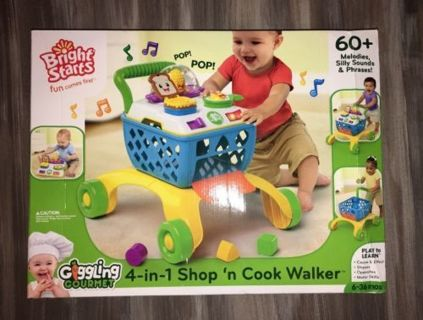 Bright Starts Giggling Gourmet Shop 'n Cook Walker