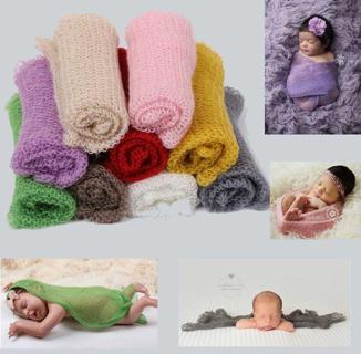 Newborn Baby Boys Girls Stretch Wrap Infant Photography Photo Prop Blanket New