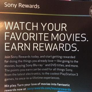 Sony reward points