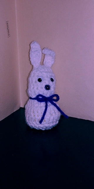 Crochet Bunny Rabbit (B-7518) White / Purple