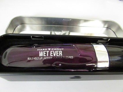 NEW!!  HARD CANDY WETEVER LIP LACQUER- ENTITLED- IN LTD. ED. TIN