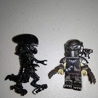 New Predator/Alien Super Heroes Minifigure Building Toys Custom Lego