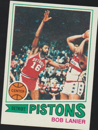1977-1978 Topps Bob Lanier #61 vintage basketball card - Detroit Pistons - HOF
