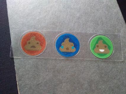 Poop Glitter Stickers