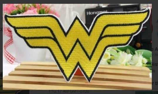 1 NEW WONDER WOMAN IRON ON Patch DC Comics Clothing accessorry Embroidery Applique