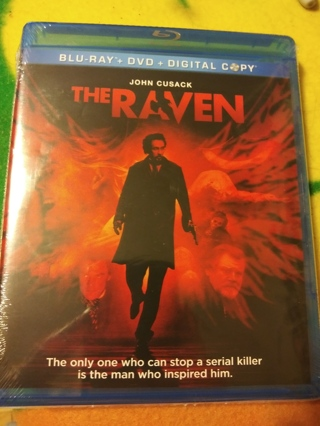 The Raven B/R+DVD+DIG COPY FACTORY SEALED