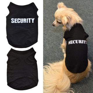 Clothes Vest Quote Security Cotton Dog Cat T-Shirt Costumes Outfit