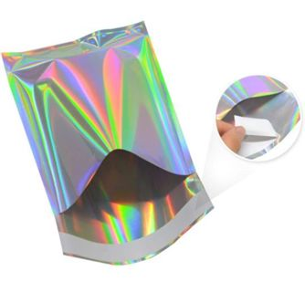 """(1) 4.5""""× 6.5"""" Holographic/Metallic Self Sealing Poly Mailer"""
