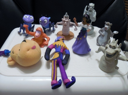LOT OF 10 MISCELLANEOUS DISNEY TOYS!  McDONALDS AND OTHERS!