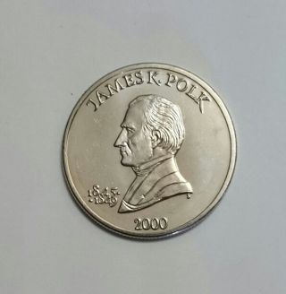 2000 Republic Of Liberia 5 Dollar Coin James K Polk U S President Series