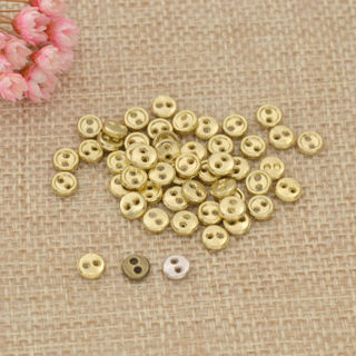 50PCs Mini Metal Doll Button with 2 Holes