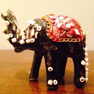 Jeweled elephant from India