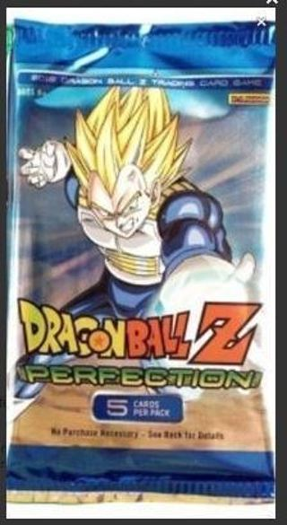 DragonBall Z Collectible Trading Card Game Perfection Booster Pack Cel Goku Vegeta DBZ Super Saiya