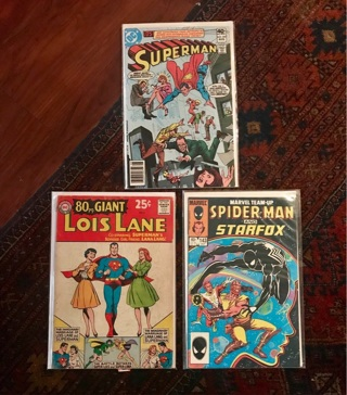 (3) Vintage Comics Superman/ Spider-Man Lois Lane Silver Age/Bronze Age