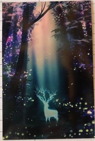 """Woodland Deer - 4 x 5"""" MAGNET"""