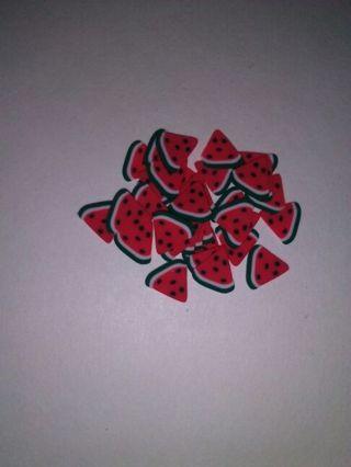 Watermelon nail art!