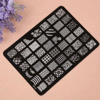 1PC Nail Stamping Printing Plate Image Stamps Plate Nail Art Decor