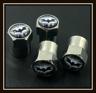NEW! 4-Piece Set of BATMAN Tire VALVE Stem CAPS!