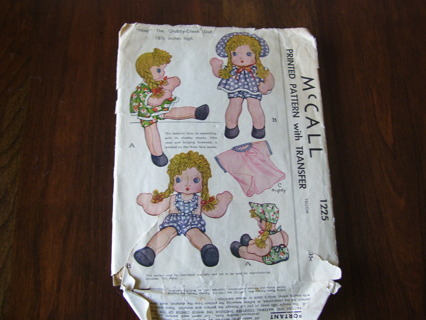 Free: Vintage RAG Cloth DOLL PATTERN McCalls 1225 - Sewing - Listia ...