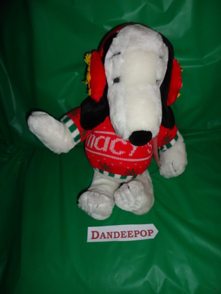 Free Peanuts Snoopy Dog In Macy S Sweater With Woodstock Earmuffs
