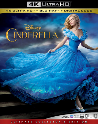 Cinderella (4K Digital UHD Download Code Only) **Lily James** **Cate Blanchett** **Disney**