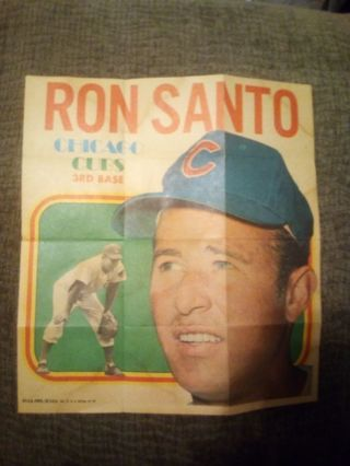 Poor condition 1970 Topps posters #5 Ron Santo