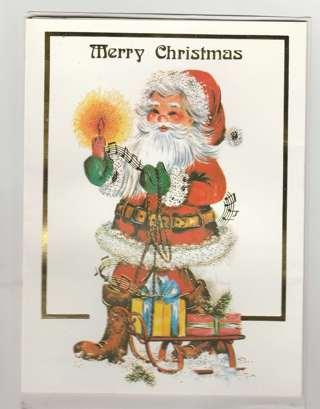 Christmas Card Unused With Envelope Vintage
