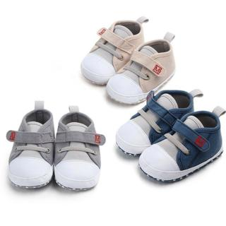 Newborn Baby Boys Girls New Canvas Shoes Letter Pre Walker Soft Sole Shoes High
