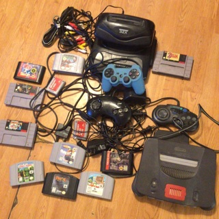 Sega and Nintendo 64 please read and look at all pictures before bidding winner takes all