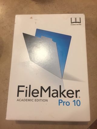filemaker pro 10 academic edition with key