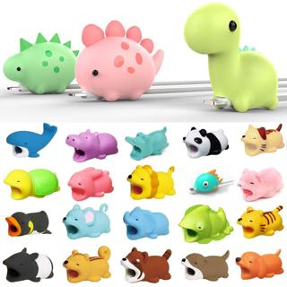 Cartoon Animal Cable Phone Charger Protector Soft Cord Accessories Bite Cute New