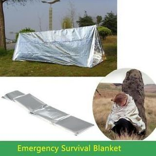 Cover Thermal Rescue Blanket Survival First Aid Tent Lifesaving Emergency