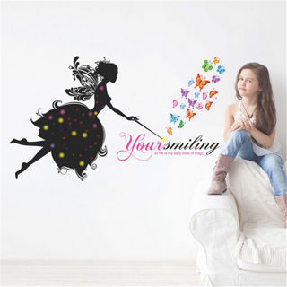 Removable Beauty Angel Butterfly Letter Wall Sticker Decal Vinyl Art Home Decor
