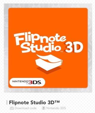 Flipnote Studio 3D download code (My Nintendo)