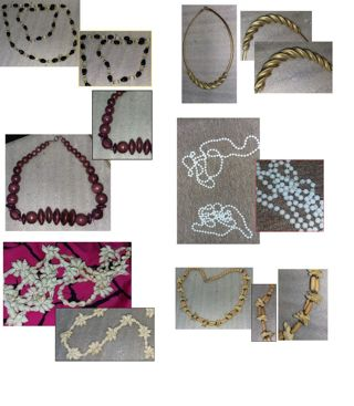 Massive 34 PC Necklace Lot VINTAGE GLAM COSTUME GERMANY STRANDS CHAINS AND More