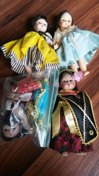 MADAME ALEXANDER 4 ginny dolls lot