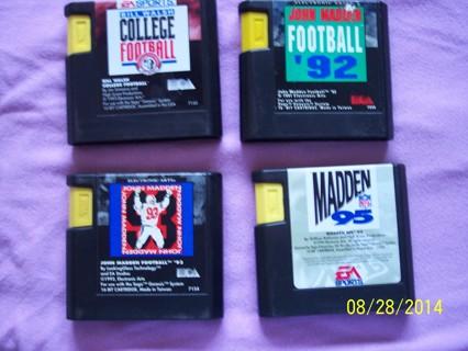 Sega Genesis Sports Cartridges