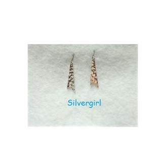 Vintage Hammered Metal Dangle Earrings