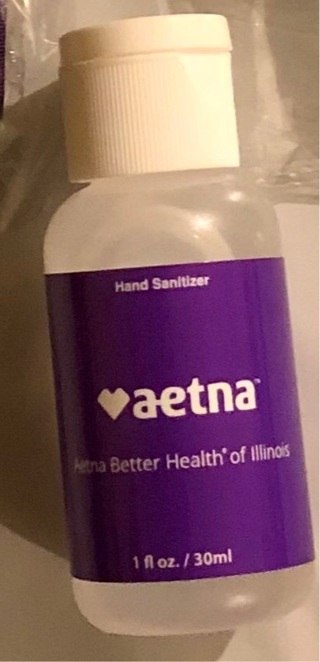 Brand New: 1.0 oz. Pocket Sized Hand Sanitizer. Issued by AETNA Insurance. Never Used.