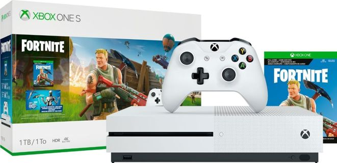 Microsoft - Xbox One S 1TB Fortnite Bundle with 4K Ultra HD Blu-ray